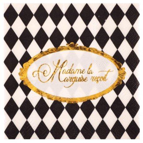 Petite serviette de table Versailles papierx20 Serviettes papier