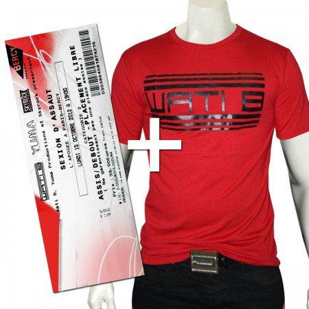 1 place Wati Bercy + 1 T-Shirt Rouge Logo Noir - WATI BOUTIQUE