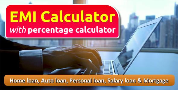 EMI Calculator with Percentage Calculator
