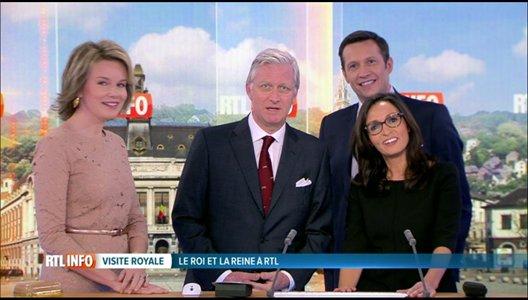 Le roi Philippe et la reine Mathilde ont visité RTL