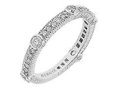 Millgrain Bezel and Prong Set Eternity Diamond Ring in 18K Gold (0.69ct TW) - 107R0172 | Birgie Diamonds