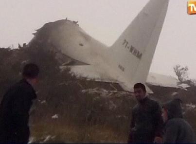 Crash d'avion: 103 morts en Algérie