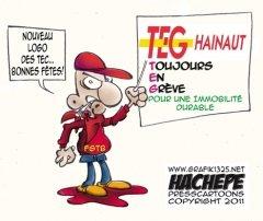 Hachepé Press Cartoons : GREVE - LES TEC CHARLEROI JOUENT LES PROLONGATIONS