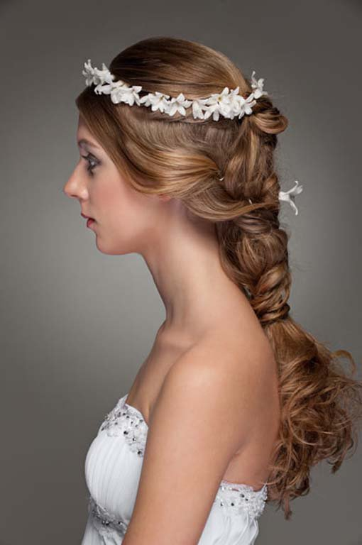 wedding hair:braided wedding hairstyle flowers | the new fashion 2013 and trends