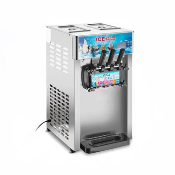 220V 1200W 3 Flavor Commercial Frozen Ice Cream Cones Machine Soft Ice Cream Machine