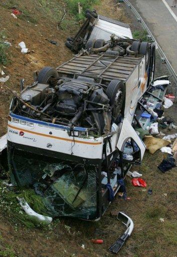 Accident d'un car marocain sur la RN 10: un an ferme pour le patron et son fils