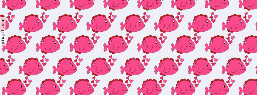 Fish in love bubble Facebook Covers