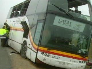 Espagne : Espagne : un autocar marocain se brise en deux - Monde - TF1 News