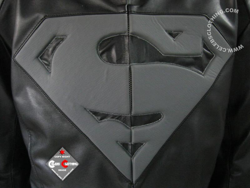 New Superman Black and Grey Jacket