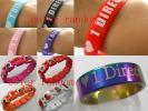 Weetix : Ensemble One Direction 1 Bracelet silicone, 1 Bracelet en Bois et 1 Anneau (16,17,18 o...