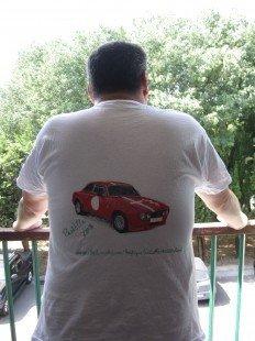 T Shirt peint à la main : Tshirts, polos par past-elle sur ALittleMarket