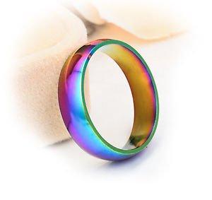 Anneau Bijoux Unisexe, Taille 63 (23mm) L:6mm, Rainbow friendly Titanium Steel | eBay