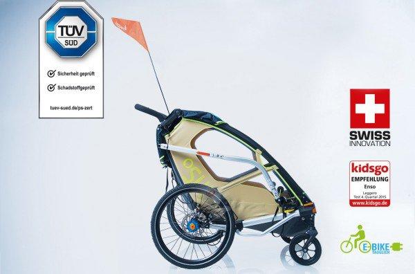 Leggero | Der sichere Fahrradanhänger für Kinder
