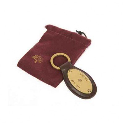 Mulberry Plaque KeyRing Light Coffee - Mulberry Keyrings - Purses Accessories