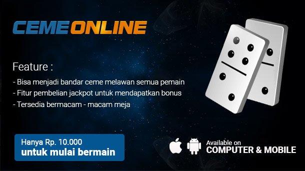 Agen Ceme Online Uang Asli Terpercaya Di Indonesia