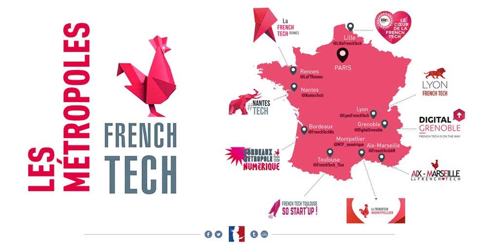 Les 9 premières métropoles #FrenchTech