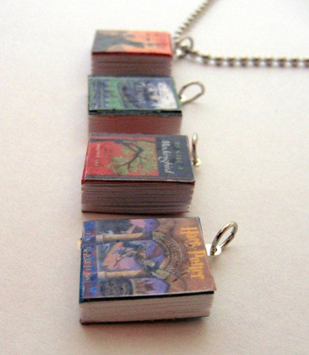 Miniature Book Charm, Mini Book Charm | Wicked_Designs - Jewelry on ArtFire