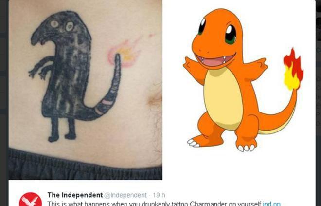 Bourré, il rate son tatouage Pokemon MAIS devient une star sur Internet