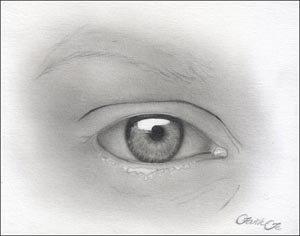 Drawing: Graphite Pencil Drawing Tutorial: Female Eye