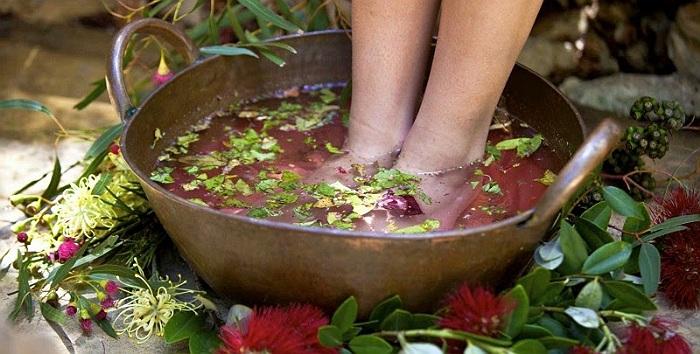 bains aux herbes-baile cu plante medicinale