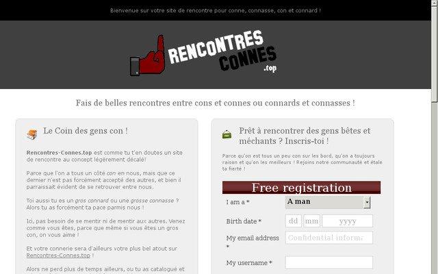 Site de Rencontres entre Cons, Connards, Connes et Connasses