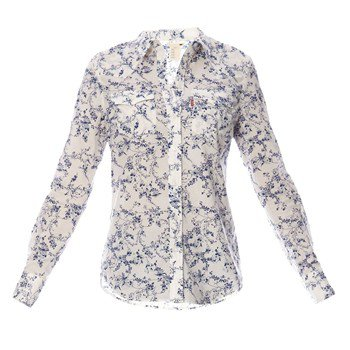 chemise femme brandalley chemise fleurie blanc et bleu levi 39 s tendance mode femme. Black Bedroom Furniture Sets. Home Design Ideas