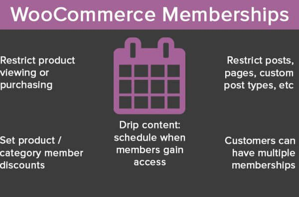 Memberships 1.9.4 Extension For WooCommerce - Get Lot