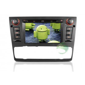 Android 4.0 Auto DVD Player GPS Navigationssystem für BMW E91 3 Series(2005 2006 2007 2008 2009 2010 2011 2012) Touring (automatische Klimaanlage+beizbarer Sitz)