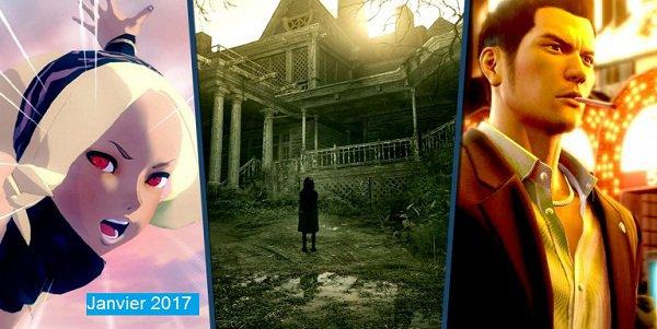 Jeux PS4: Les sorties majeures de Janvier 2017