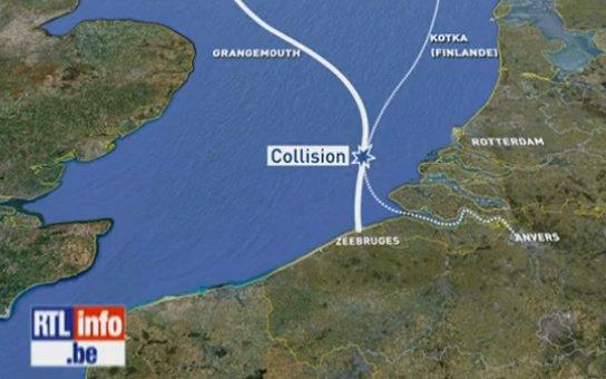 Collision en mer du Nord: les recherches des 6 disparus arrêtées