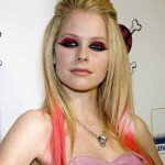 Avril Lavigne Colorful Hairstyles For 2014 | Celebrities Hair Cuts and Hairstyles Fashion