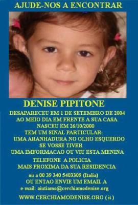 @@@ AVIS DE RECHERCHE DENISE PIPITONE - PORTUGAIS @@@