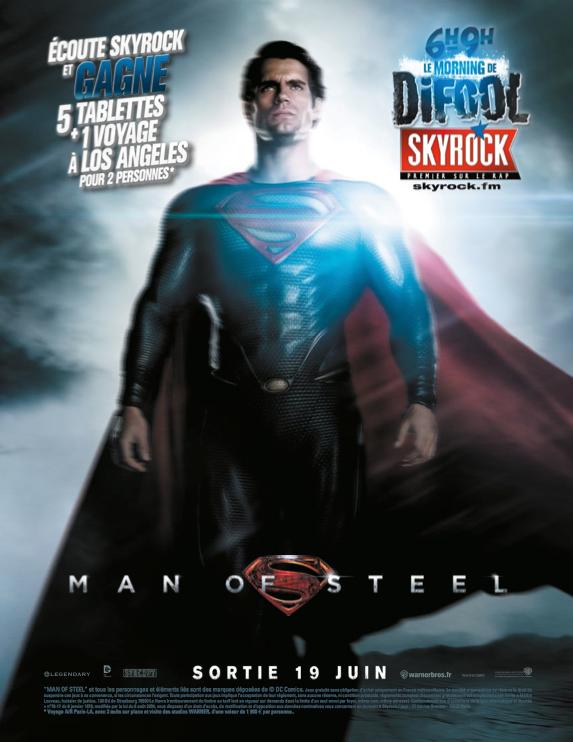 Man Of Steel, un film Skyrock !