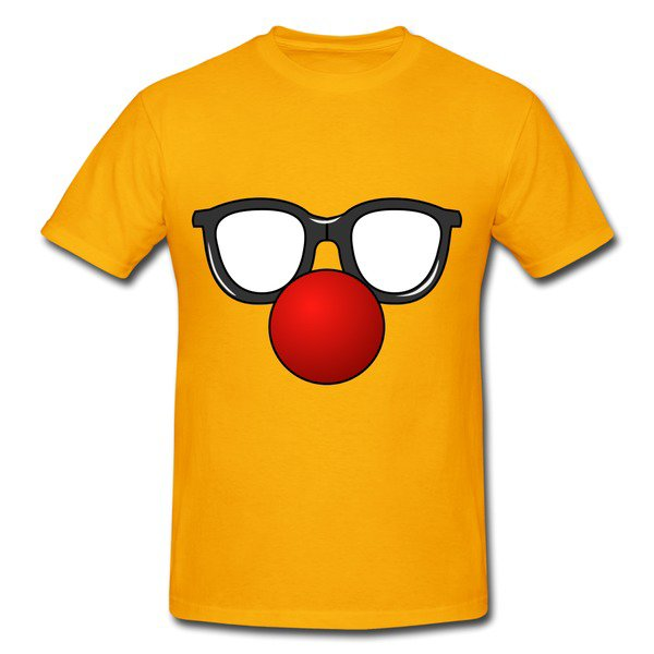 Funny Glasses Gold Heavyweight T-shirt For Men on Sale-Funny T-shirts |HICustom