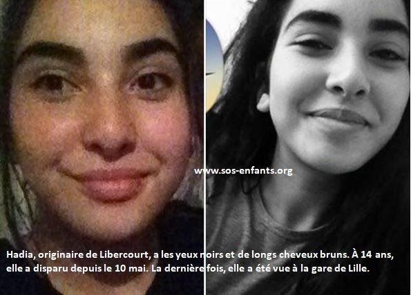 Sos-enfants-Hadia, 14 ans - Disparitions récentes - Les nouvelles