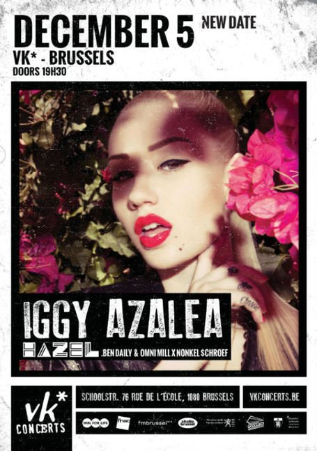 IGGY AZALEA • Free tickets now! • 05.12.2012 • @ VK • Brussels | CHRONYX.be : on aime le son made in Belgium !