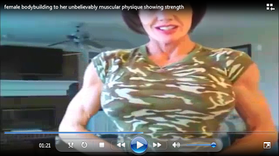 female bodybuilders 24: Clip female bodybuilding to her unbelievably muscular physique showing strength :