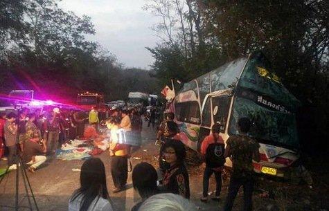 Thaïlande: 15 morts dont 13 enfants dans un accident de car | La-Croix.com