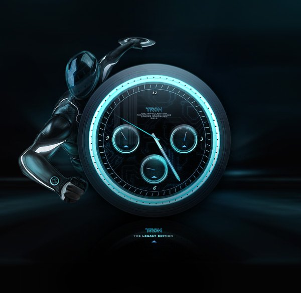 Gorgeous TRON Identity Disk Watch Designs
