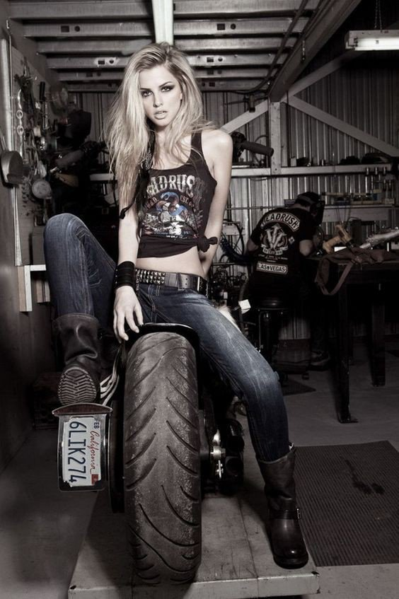 Girls and Bikes Pictures