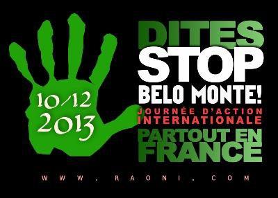LE 10 DECEMBRE A 11HOO DEVANT ALSTOM  'STOP BELO MONTE!'