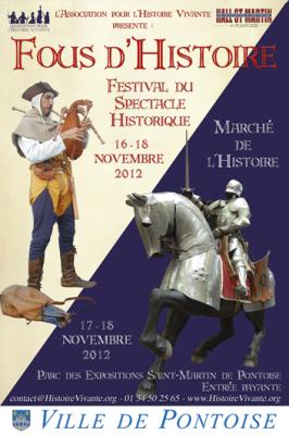 Fous d'Histoire 17 et 18 nov. àPontoise