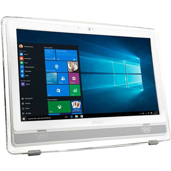 "MSI S0209675 - Tout en Un MSI Pro 22ET 6M-039XEU FreeDOS Intel® Pentium G4400 21.5"" LCD LED Full HD 4 GB DDR4|1 TB 3.5' SATA III Tactile Blanc"