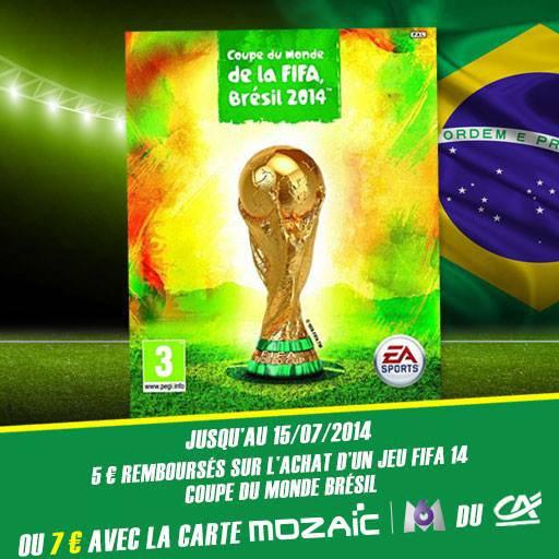 Remboursement jusqu'à 7€ sur le jeu FIFA 2014 !