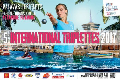 5ème International Triplettes 2017 : 128 équipes en lice