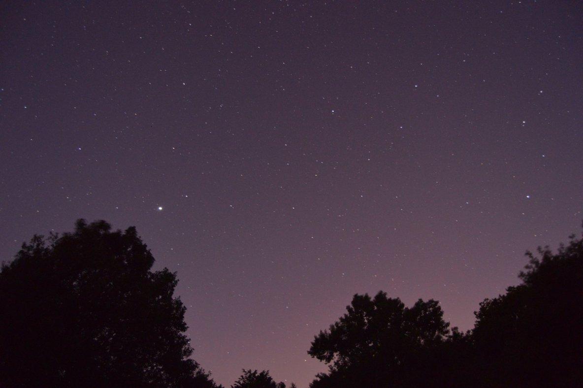 La plus brillante c'est bien Jupiter (cliquez sur la photo)