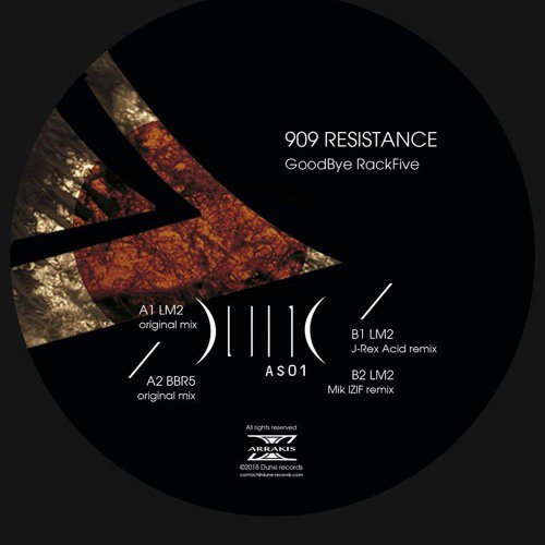 Arrakis 01 - Good Bye Rack Five Ep - 909Resistance (out February 2018)- preview