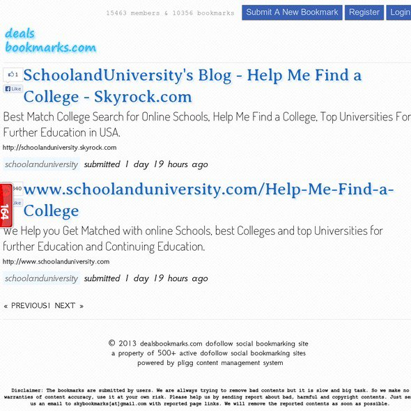 School and University | dealsbookmarks.com