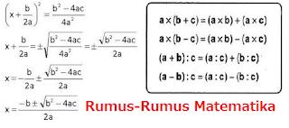 Rumus-Rumus Matematika | Pustaka Ilmu
