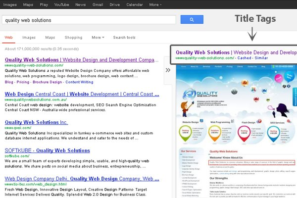 Way to Optimize Website Title Tags for Search Engine Optimization